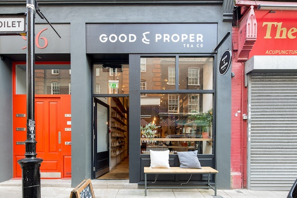 exterior shot Good and Proper Tea Clerkenwell