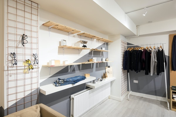 206 Brick Lane Large White Shelf, London