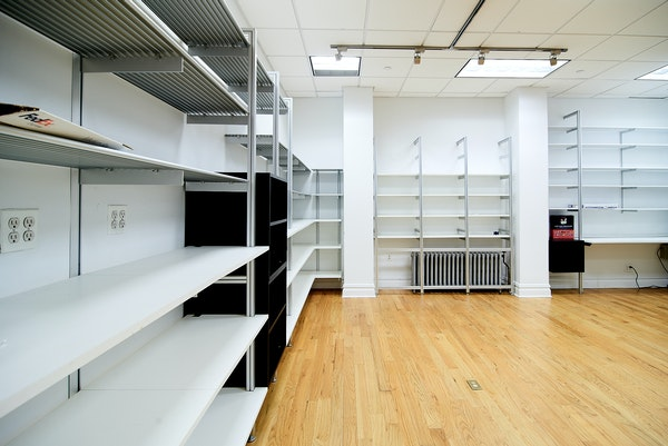 retail space with shelving