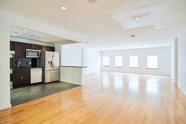 Kitchen space at Wooster Street loft