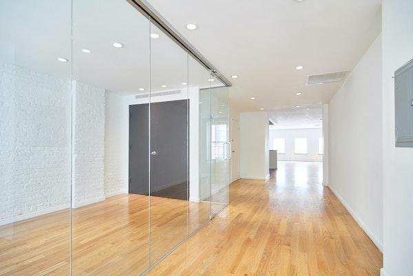 Glass sliding doors soho loft