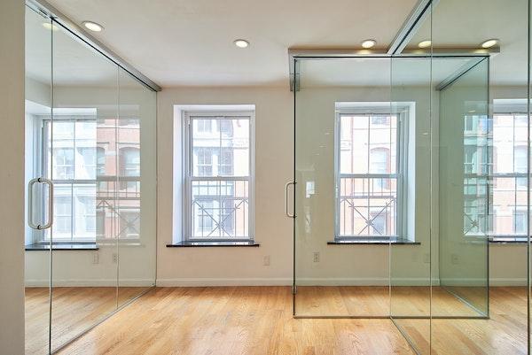 Glass room showroom space