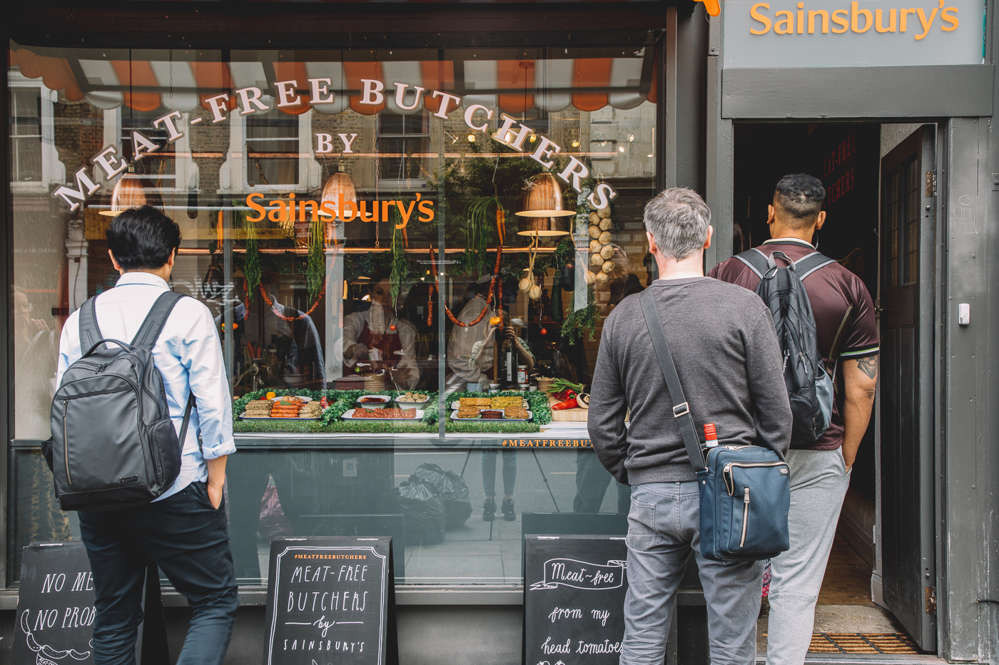 Sainsbury's, pop up, how to build a pop up, London pop up, things to see in London, short-term retail, meat-free, plant-based