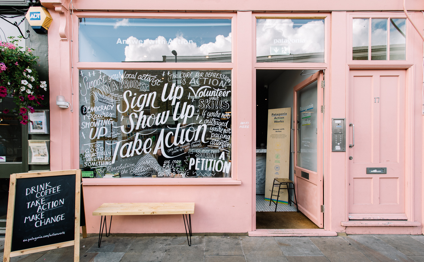Patagonia, pop up, how to build a pop up, London pop up, things to see in London, short-term retail,